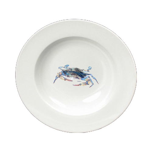 Blue Crab Blowing Bubbles Round Ceramic White Soup Bowl 8655-SBW-825 by Caroline's Treasures