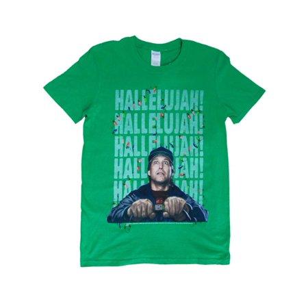 Christmas Vacation Hallelujah.National Lampoons Christmas Vacation Mens Green Griswold Hallelujah T Shirt