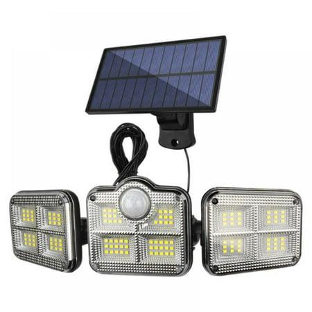 ShengShi Solar Lights Outdoor Motion Sensor Upgrade Rotatable 122 LEDs IP67 Waterproof Outdoor Lights Solar Wireless Wall Light Split wall lamp (2400mah)