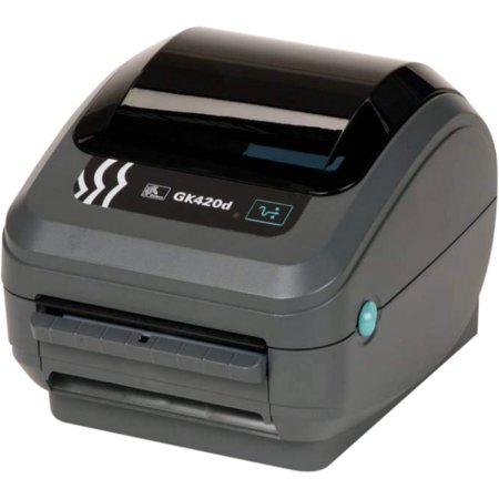 Zebra GK420d Direct Thermal Monochrome Printer 203dpi USB Ethernet GK42-202210-000 ()