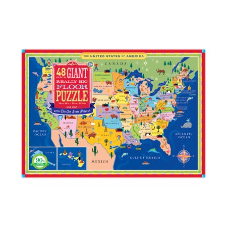 Giant Really Big Floor Puzzle - USA Map: 48 Pcs ()