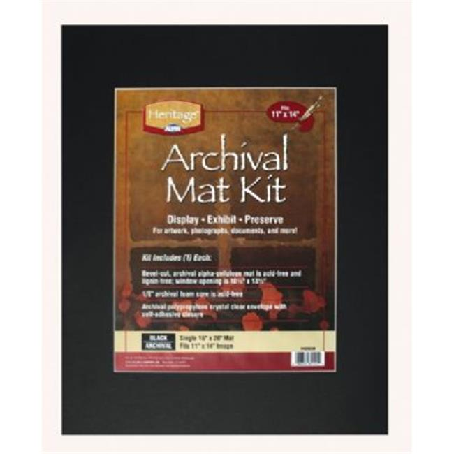 Heritage H1620ASW Archival Series 16'' x 20'' Pre-Cut Single Layer White Mat Kit - image 1 of 1
