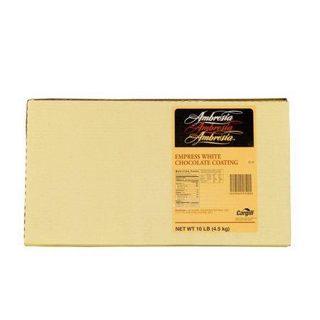 (Price/Case)Ambrosia 100107228 Coating Empress White Chocolate Ambrosia Block 1-10 Pound