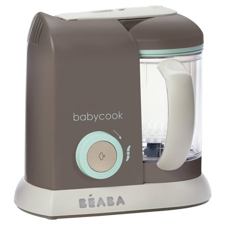 Beaba Babycook 4 in 1 Dishwasher Safe Baby Food Blender, Steam Cooker, and Maker, Latte Mint (New Open Box) - Walmart.com