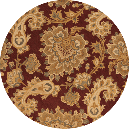Rugsource 8x8 Oushak Agra Oriental Foyer Round Rug Hand