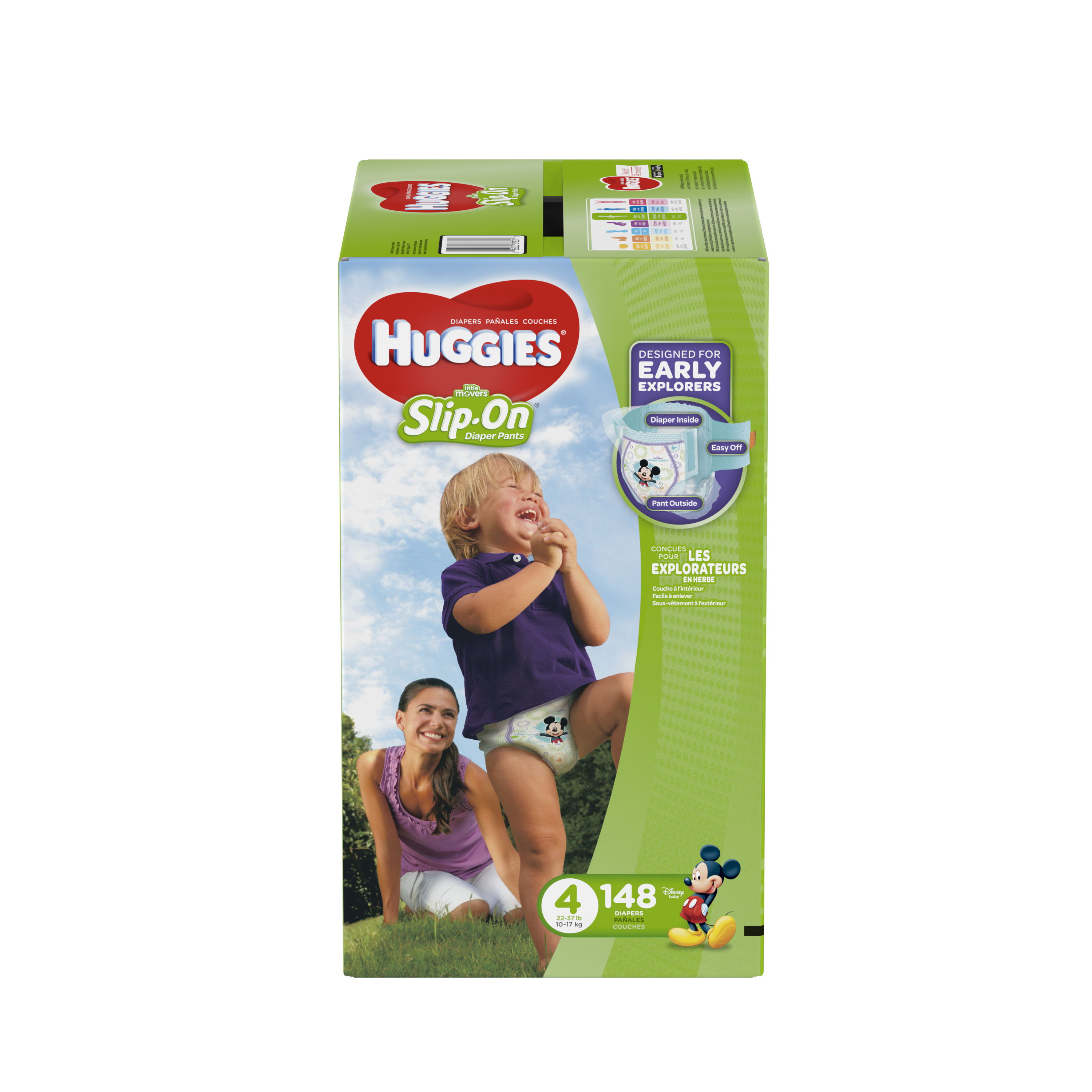 Huggies Little Movers Stretchy Diaper Pants 4, 22-37 lb, 56 count