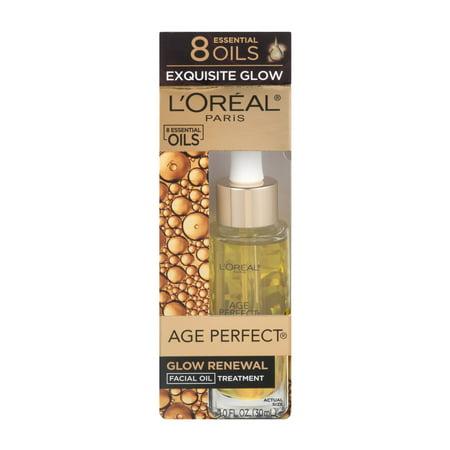 L'Oreal Paris Age Perfect Glow Renewal Facial Oil Treatment, 1.0 FL