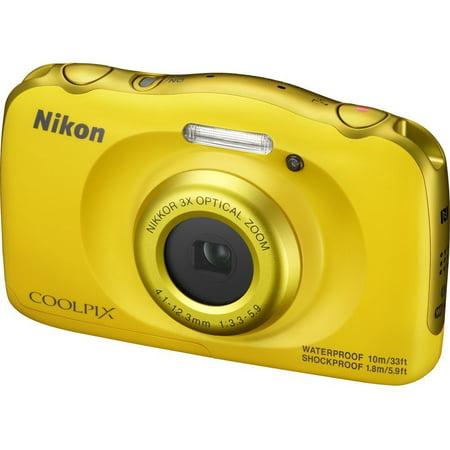 Nikon COOLPIX W100 Digital Camera (Yellow)