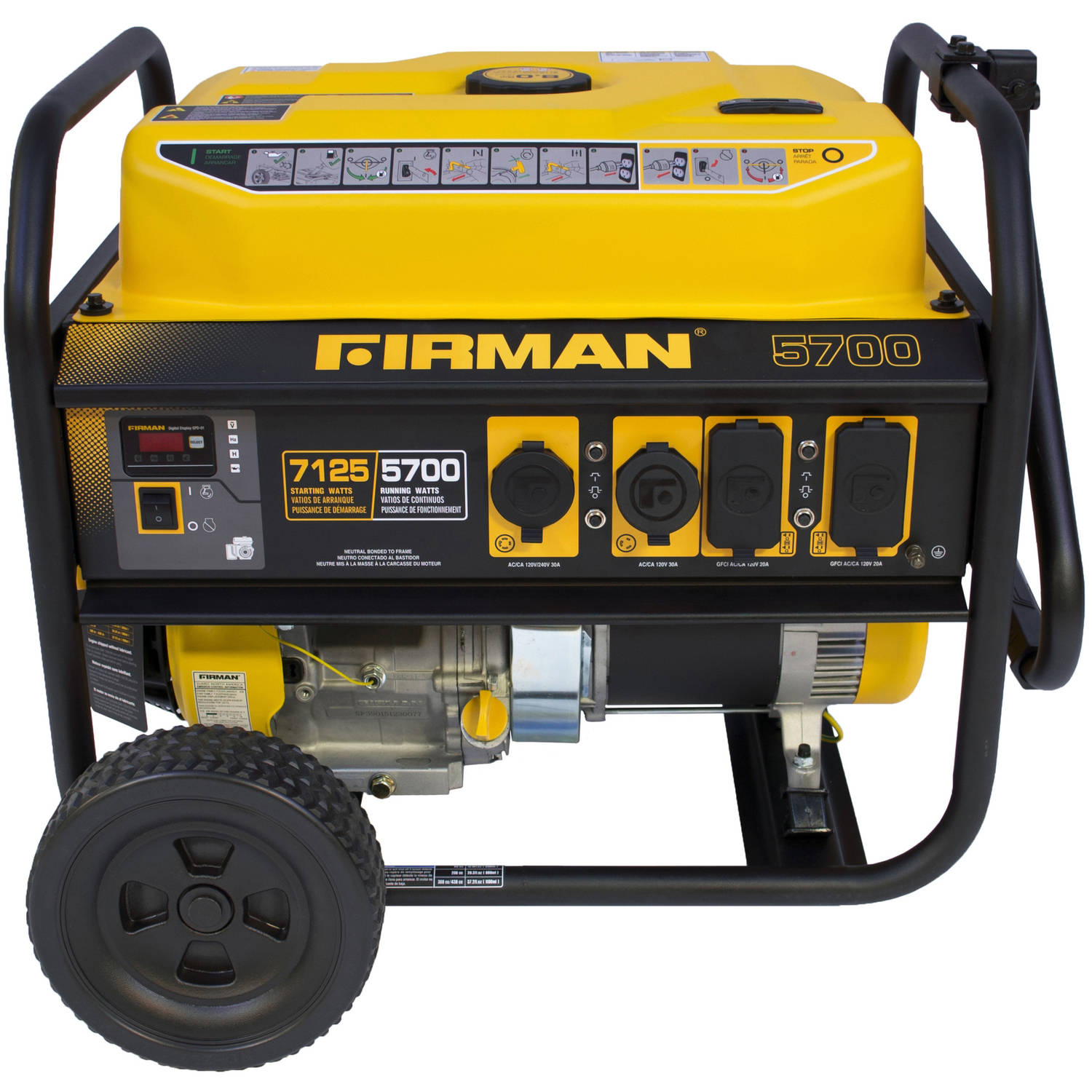 Firman Power Equipment P05701 5700 7100-Watt Portable Gas Generator by Firman Power Equipment