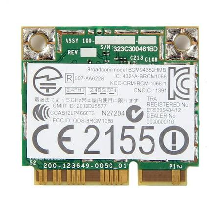 AzureWave Broadcom BCM94352HMB/BCM94352 802.11/ac/867Mbps WLAN + BT4.0 Half Mini PCI-E