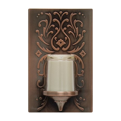 GE Night Light, LED Candle Plastic Faux Bronze Finish Auto On/Off