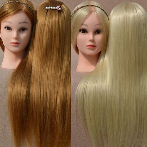 Salon Cosmetology 18 Inches Wig Woman Head Mannequin Hair...