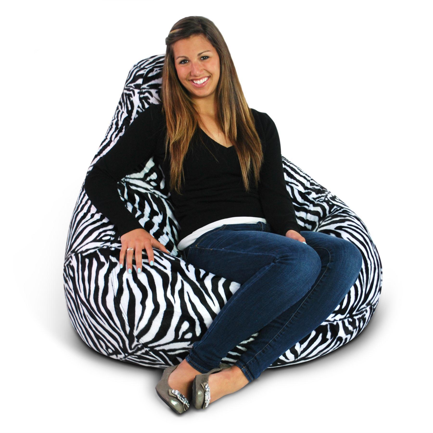 Animal Print Extra Large Pure Bead Bean Bag-Theme:Zebra