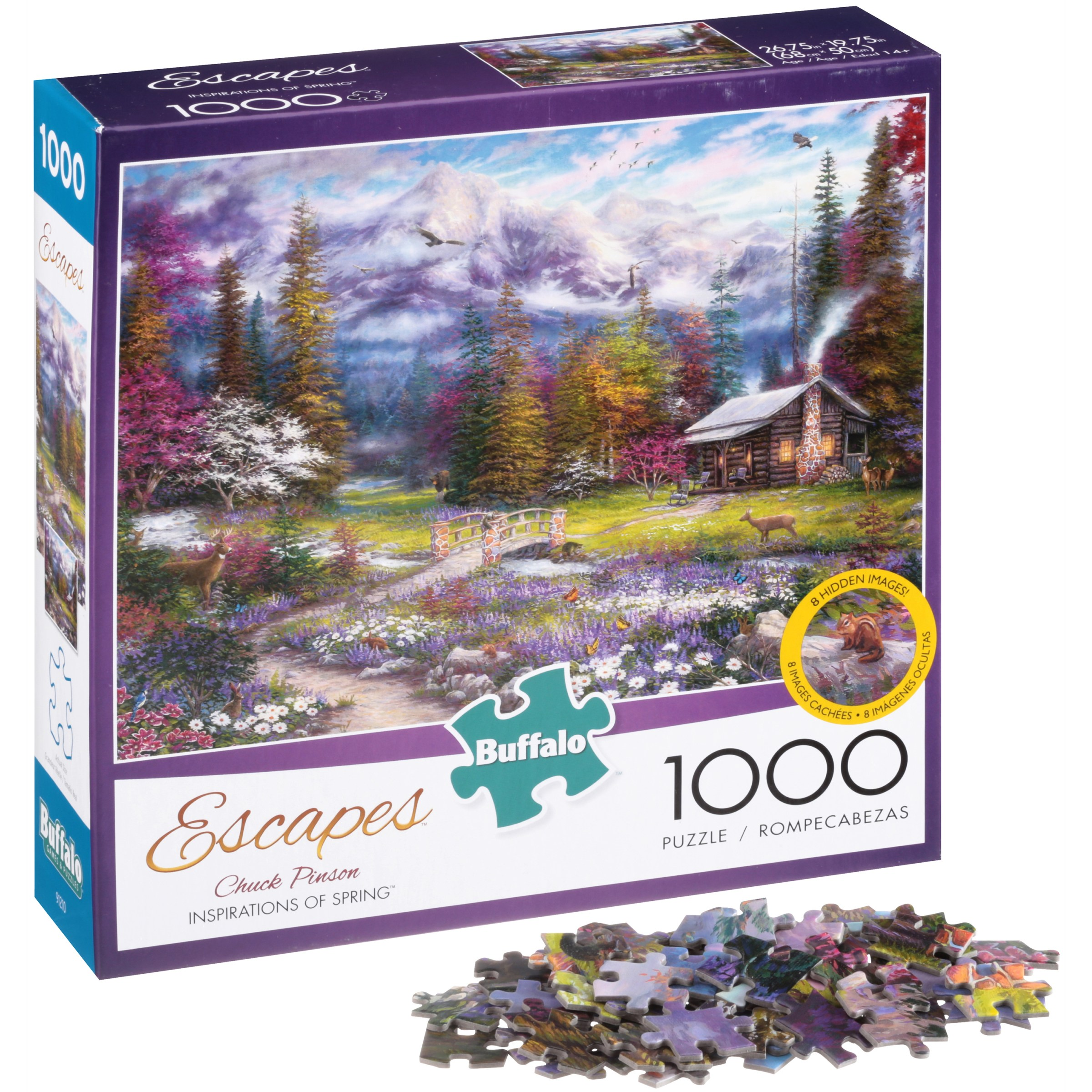 Buffalo Escapes Chuck Pinson Inspirations of Spring Puzzle 1000 pc Box by Buffalo Games, LLC