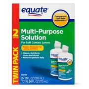 Equate Multi-Purpose Solution Twin Pack, 12 fl oz, 2 count