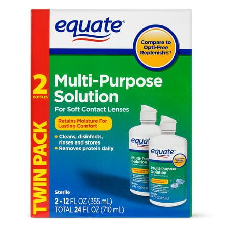 Equate Sterile Multi Purpose Contact Solution   12 Oz  2 Pk