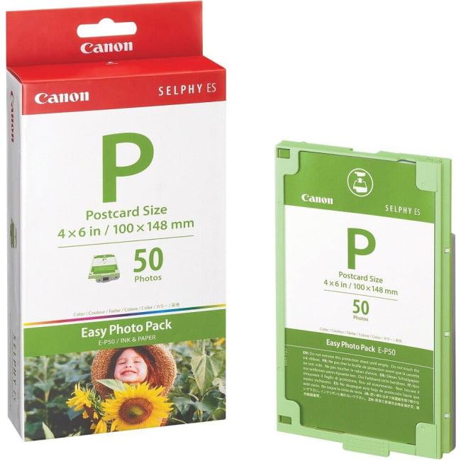 Canon 1247B001 Easy Photo Pack E P50 Print ribbon cassette and paper kit, 4X6 50 Sheet