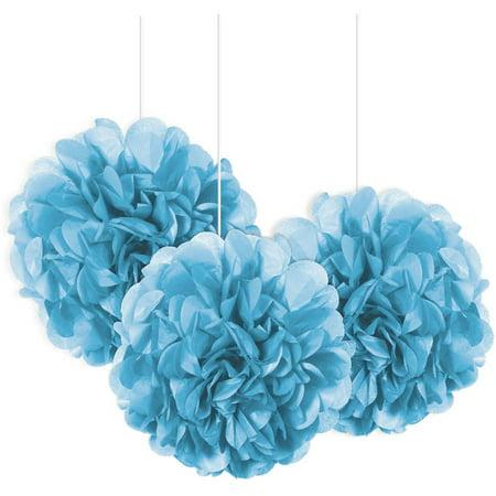Tissue Paper Pom Poms, 9 in, Light Blue, 3ct - Blue Pom Pom