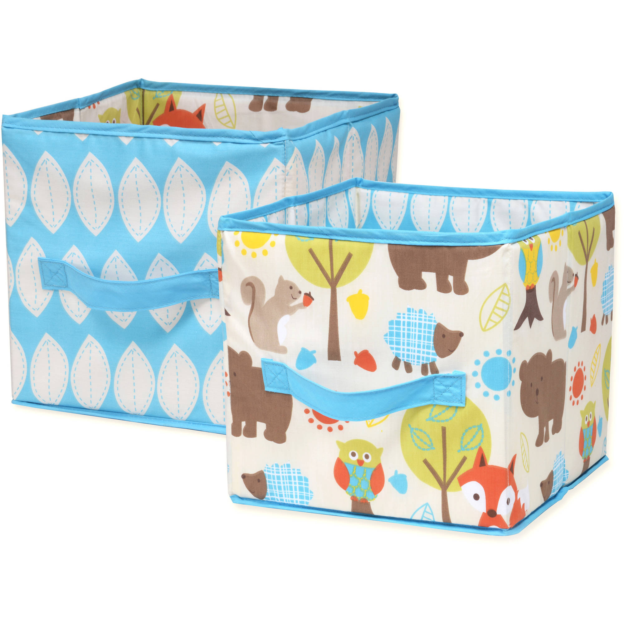 Little Bedding By Nojo Woodlands Collapsible Storage Bin, 2 Pack    Walmart.com