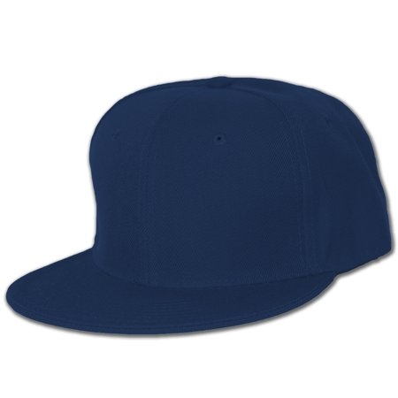 Blank Flat Bill Baseball Hat ()