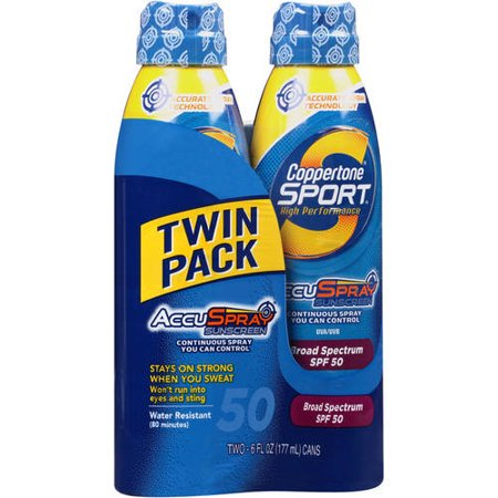 Coppertone  Sport  Broad Spectrum Spf 50 Sunscreen Spray 2 6 Fl  Oz Aerosol Cans