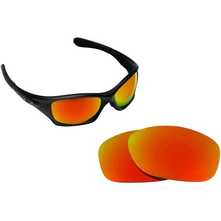 Best SEEK Polarized Replacement Lenses for Oakley PIT BULL Asian Fire Red Mirror