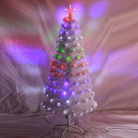 hot premium led fiber optic christmas tree four color changing artificial chrismas tree decorations for home hotelswhite18m walmartcom - Led Fiber Optic Christmas Tree