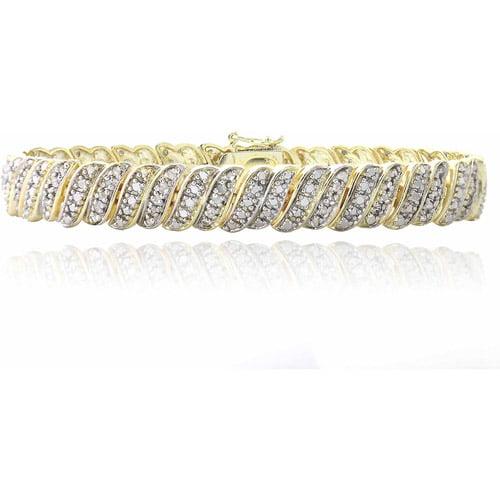 1 Carat T.W. Diamond Gold-Tone Tennis Bracelet by Top Seller