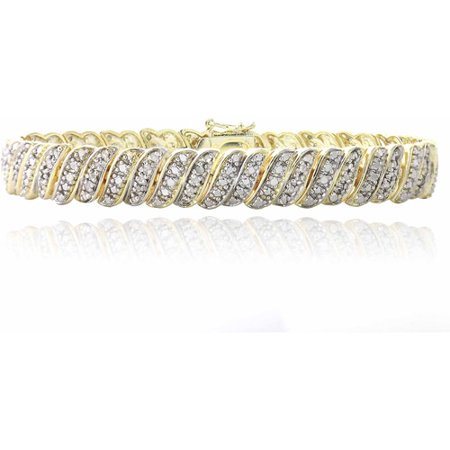 1 Carat T.W. Diamond Gold-Tone Tennis Bracelet ()