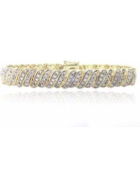 1 Carat T.W. Diamond Gold-Tone Tennis Bracelet
