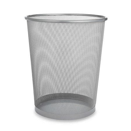 Metal Wastebasket (1, CHROME), An iconic midcentury design, the Mesh Metal Wastebasket is handsome, useful, and ideal for any room By (Chrome Wastebasket)