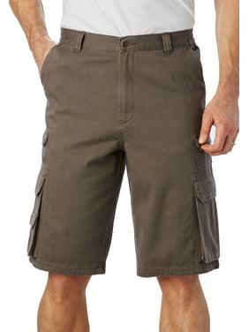 """Boulder Creek Men's Big & Tall Boulder Creek 12"""" Side-elastic Stacked Cargo Pocket Shorts Cargo Shorts"""
