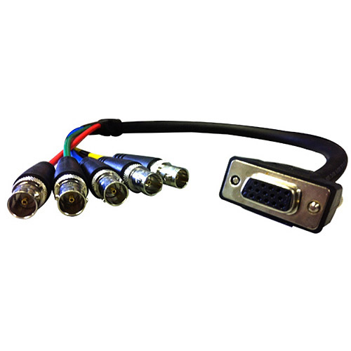 Comprehensive Cable HR Pro Series VGA HD-15 Jack to 5 BNC Jacks Cable, 6'