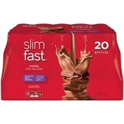Slim Fast Original weight loss Meal Replacement RTD shakes with 10g of protein and 4g of fiber plus 24 Vitamins and Minerals per serving, Creamy Milk Chocolate, .., By SlimFast