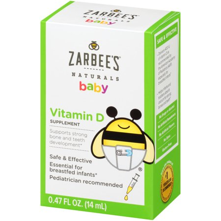 Zarbee S Naturals Baby Vitamin D Supplement 0 47 Fl