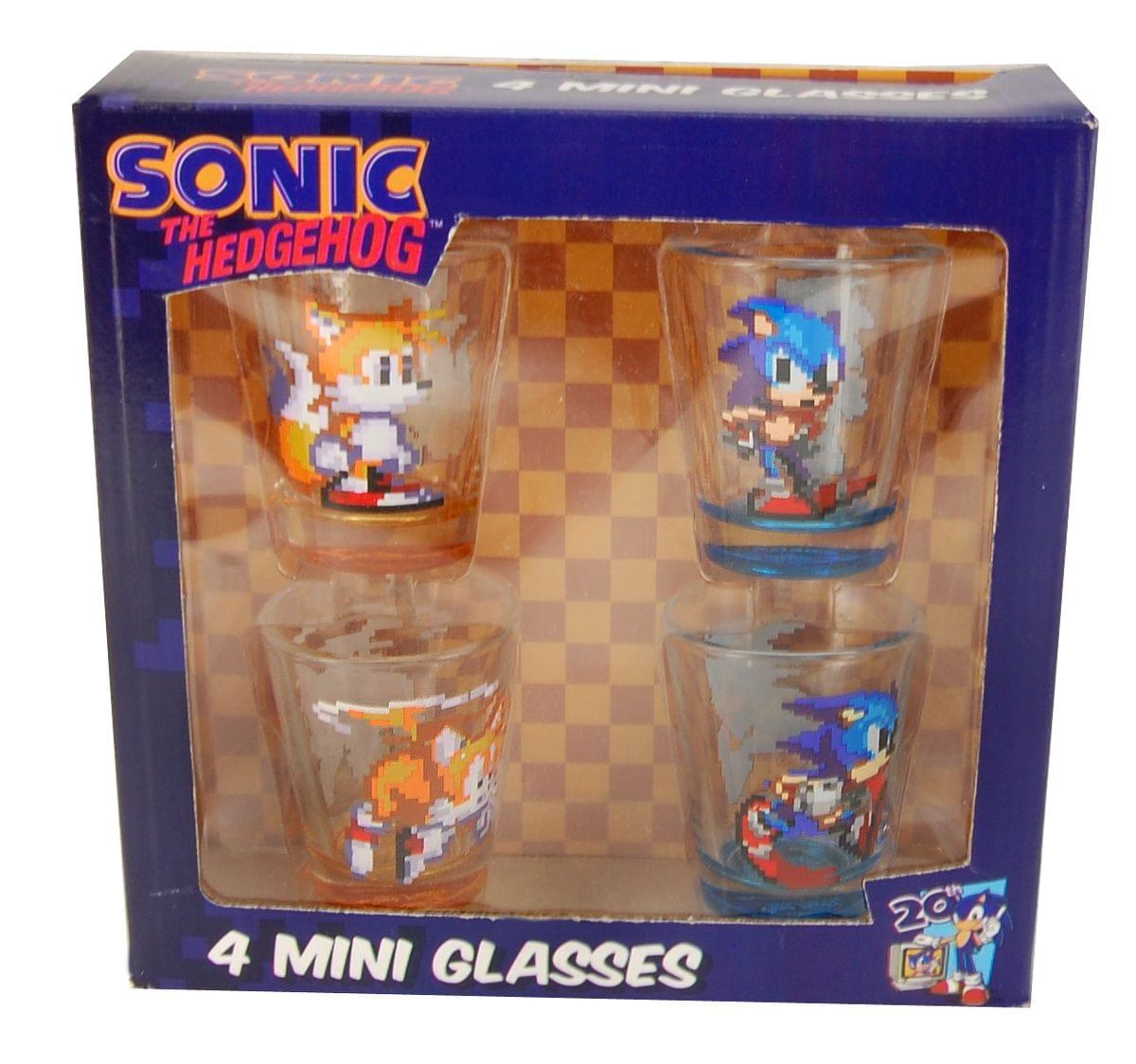 Sonic The Hedgehog Shot Glass Set of 4