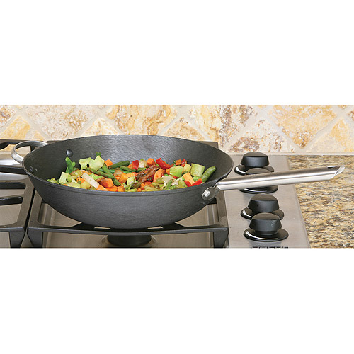 "Cook Pro 13"" Cast Iron Chinese Wok"