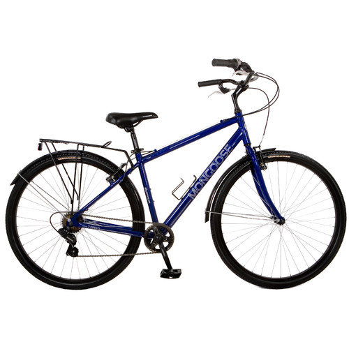 700C Mongoose Xcom Men's Hybrid Bike, Blue