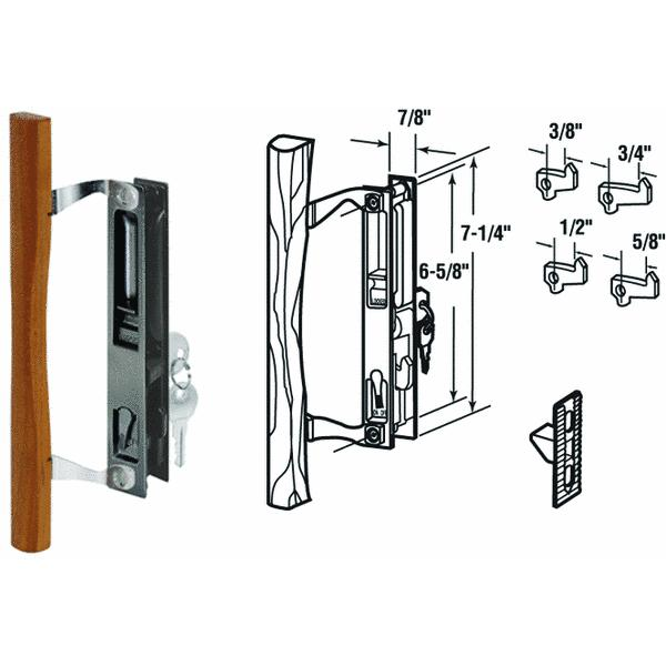 Slide-Co Flush Mount Hook Sliding Patio Door Handle Set