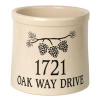 Personalized Pine Bough 2 Gallon Stoneware Crock