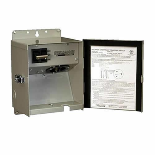 Reliance Controls CSR302 30 Amp, 120/240V Single Circuit Transfer Switch with NE