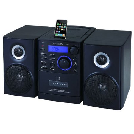 Supersonic SC805 Portable MP3/CD Player With iPod Docking, USB/SD/AUX Inputs, Cassette Recorder & AM/FM Radio (Retail Packag