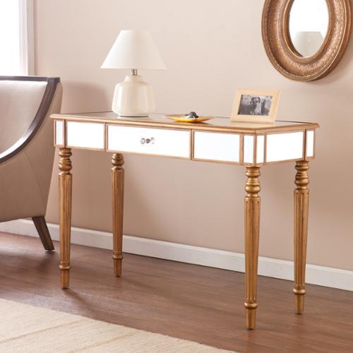 Harper Blvd  Champagne Gold Fontaine Mirrored Sofa/ Console Table