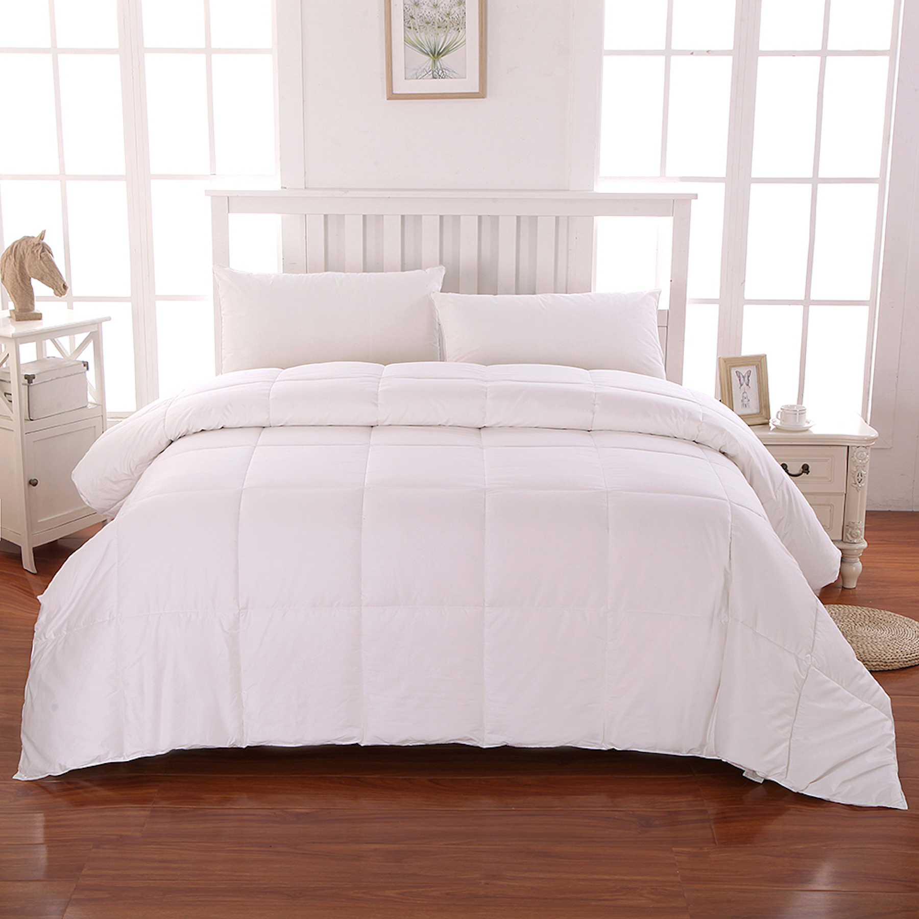 Cottonloft Soft and Medium Warmth All Natural Breathable Hypoallergenic Cotton Comforter