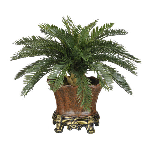 House of Silk Flowers Inc. Artificial Baby Cycas Palm Floor Plant in Planter