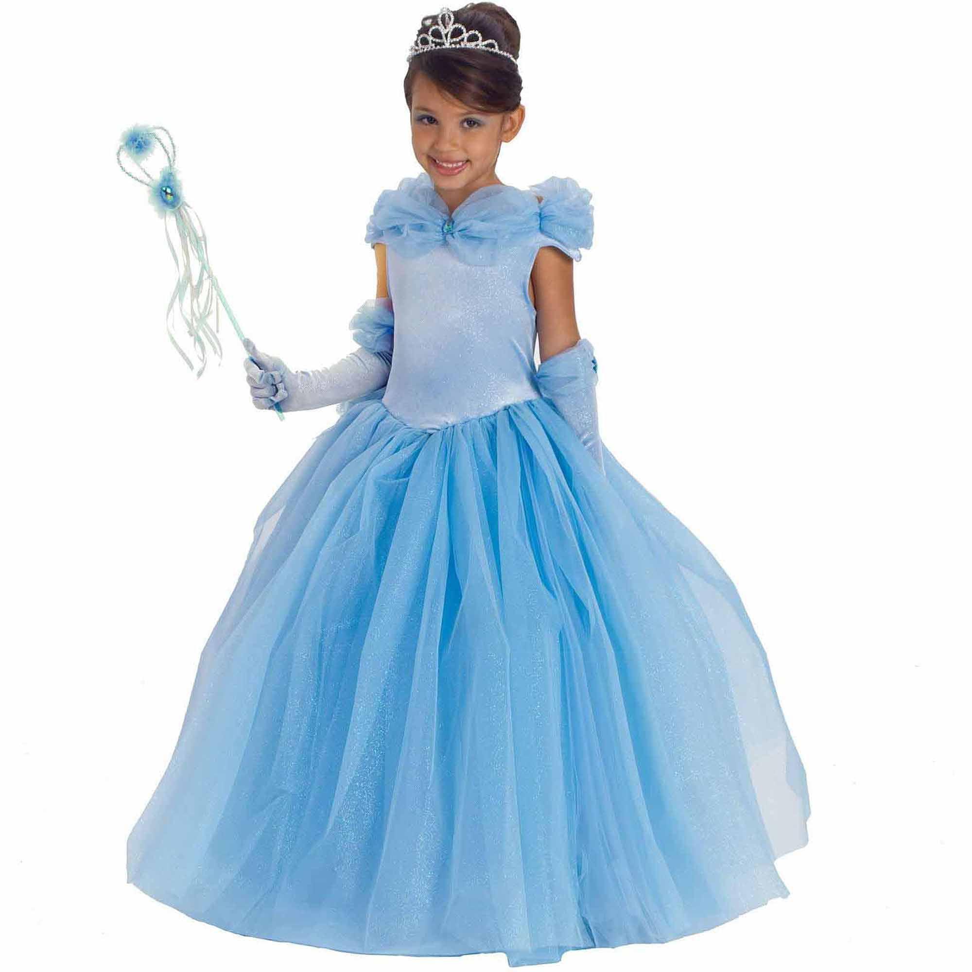 Blue Princess Cynthia Child Halloween Costume