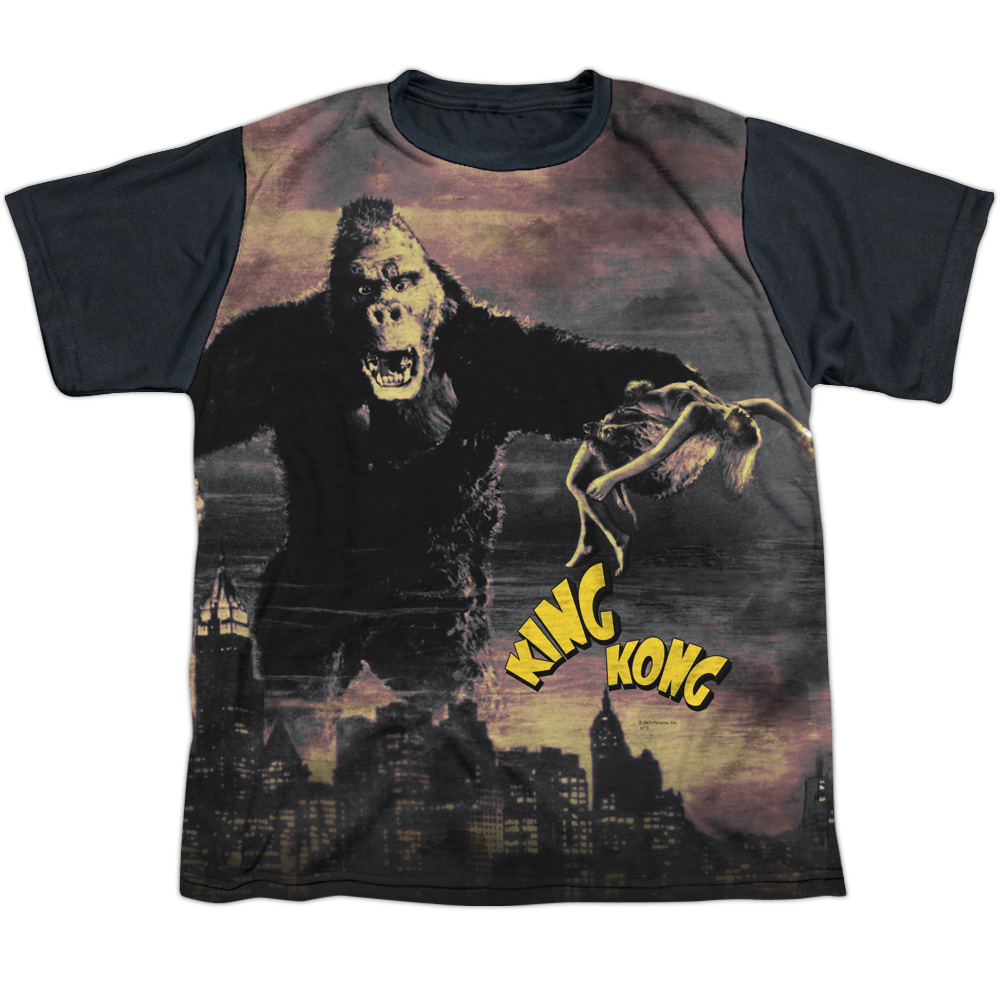 King Kong Kong In The City Big Boys Youth Sublimated Shirt with Black Back