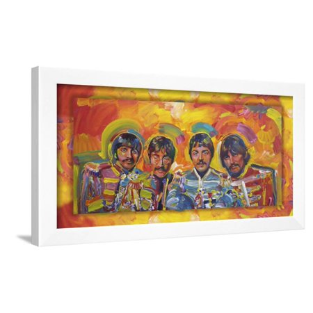 Beatles Sgt-Peppers Framed Print Wall Art By Howie -