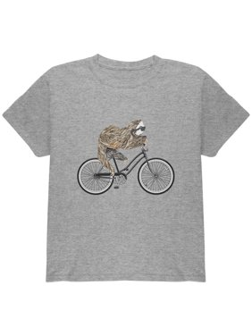 Bicycle Sloth Youth T Shirt
