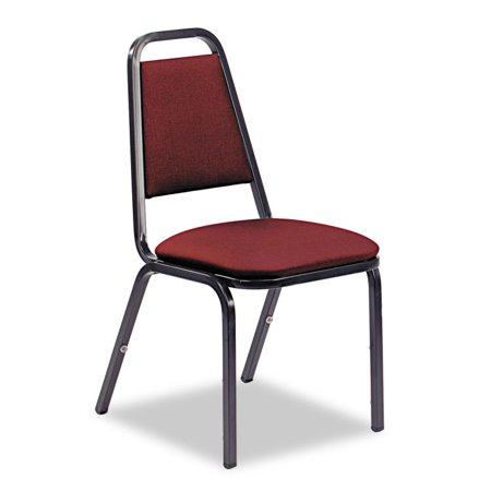 Virco Vinyl Upholstered Stack Chair Wine Black Ct
